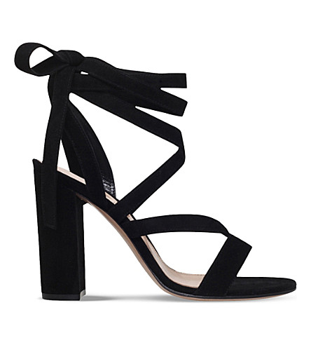 GIANVITO ROSSI Netley Mews suede heeled sandals (Black