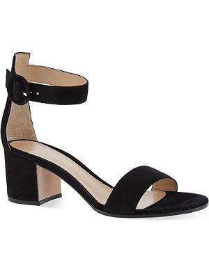 GIANVITO ROSSI Matilda suede heeled sandals