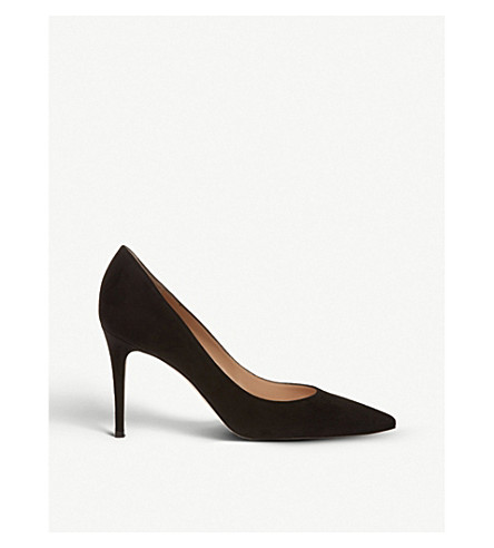 GIANVITO ROSSI Bari 85 suede courts (Black