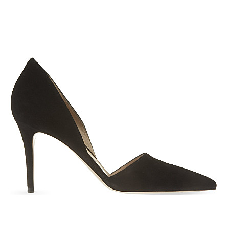 GIANVITO ROSSI Rosemary suede courts (Black