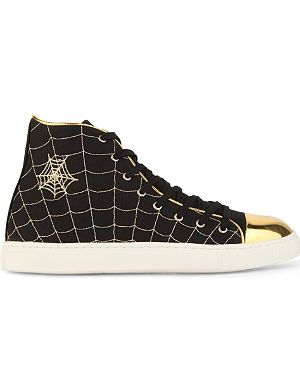 CHARLOTTE OLYMPIA Web high-top canvas trainers