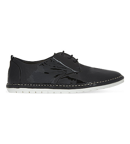 MARSELL Patent Derby shoes (Black