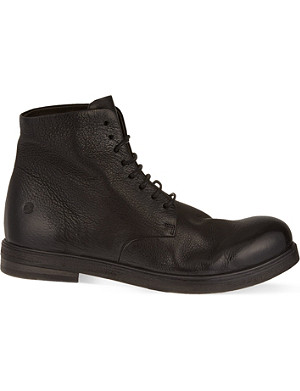 MARSELL Leather military boots