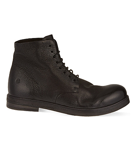 MARSELL Leather military boots (Black