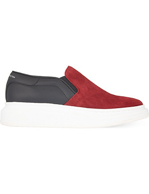 ALEXANDER MCQUEEN Skate leather trainers