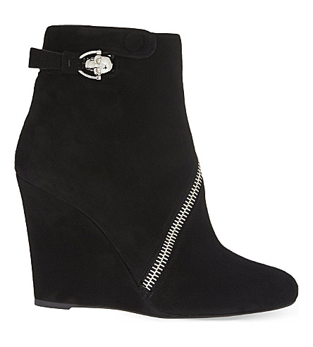 ALEXANDER MCQUEEN Zip wedge ankle boots (Black