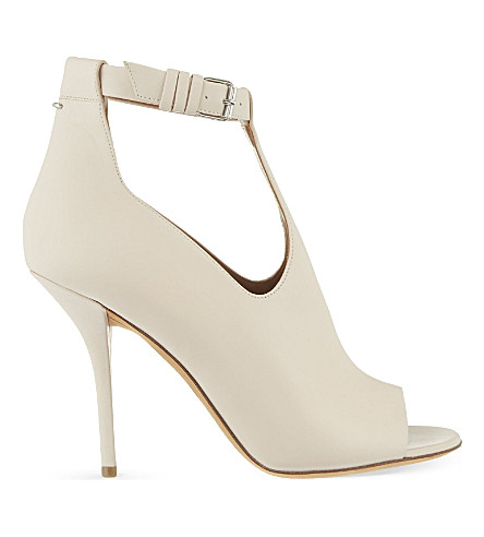 GIVENCHY Pisca 100 peep-toe booties (Nude