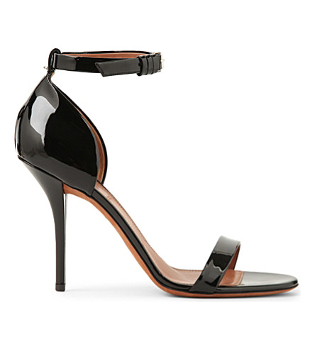 GIVENCHY Petra 100 patent-leather heeled sandals (Black