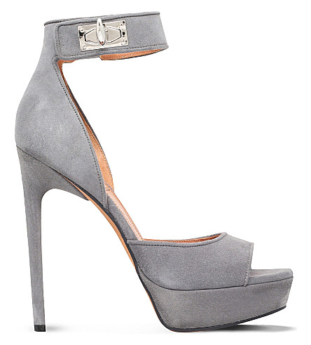 GIVENCHY - Plara 125 suede heeled sandals