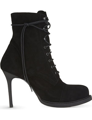 ANN DEMEULEMEESTER Lace up heeled ankle boots