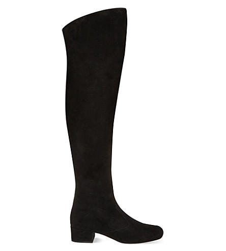 SAINT LAURENT Babies 40 over the knee boots (Black