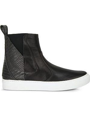 LANVIN Chelsea leather ankle boots