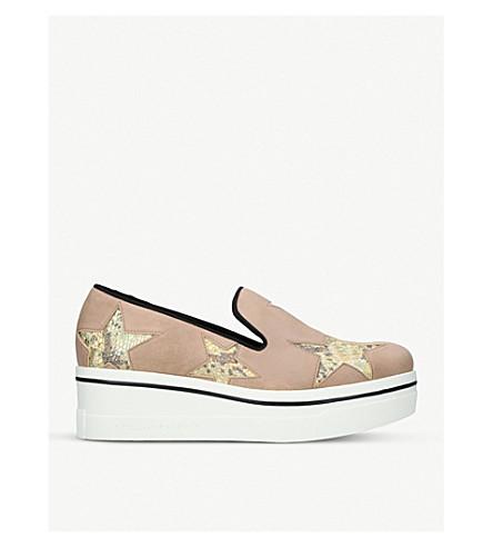 STELLA MCCARTNEY Binx star platform loafers (Pale+pink