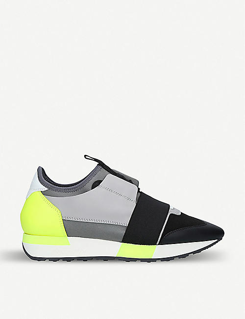 BALENCIAGA Race Runners leather, suede and mesh trainers