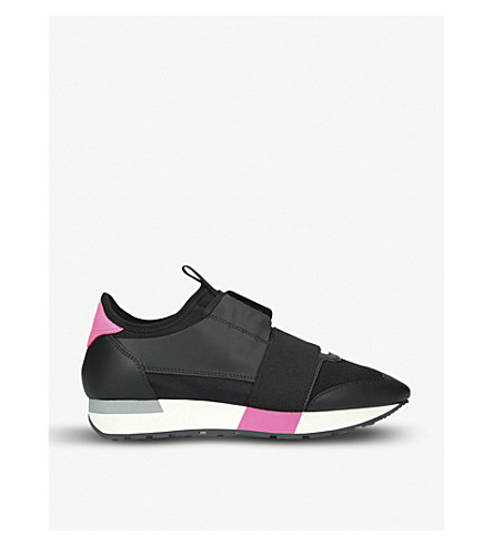 BALENCIAGA Race Runners leather and mesh trainers (Other