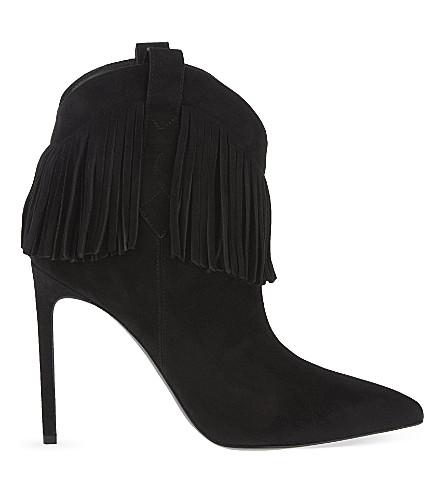 SAINT LAURENT Paris heeled cowboy boots (Black