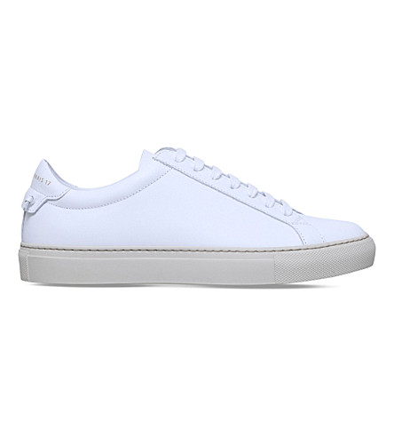 GIVENCHY Knot leather trainers (White