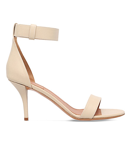 GIVENCHY Retra 80 leather heeled sandals (Beige