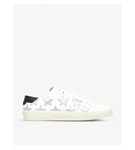 SAINT LAURENT Court classic star trainers (White/comb