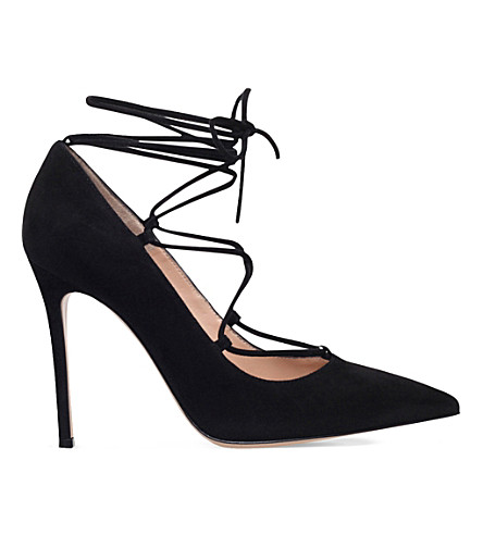 GIANVITO ROSSI Femi suede courts (Black
