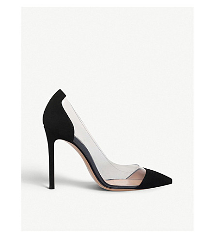 GIANVITO ROSSI Calabria leather courts (Black