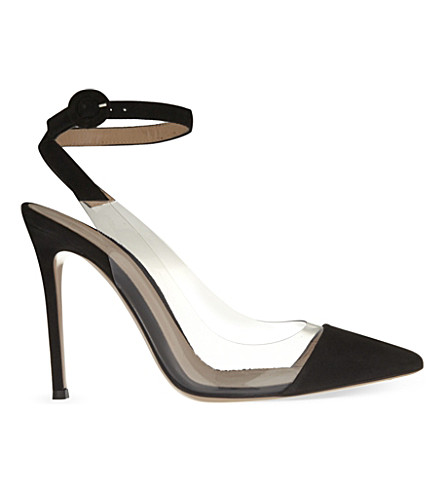 GIANVITO ROSSI Anise suede courts (Black