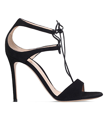 GIANVITO ROSSI Darcy satin sandals (Black
