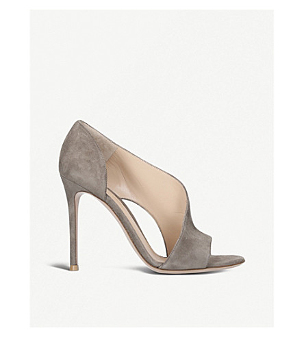 GIANVITO ROSSI Demi suede heeled sandals (Brown