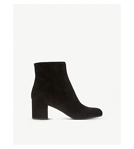 GIANVITO ROSSI Margaux suede block heel ankle boots (Black
