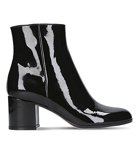 GIANVITO ROSSI Margaux patent-leather ankle boots (Black