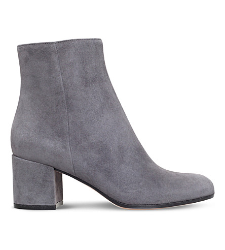 GIANVITO ROSSI Margaux suede ankle boots (Grey
