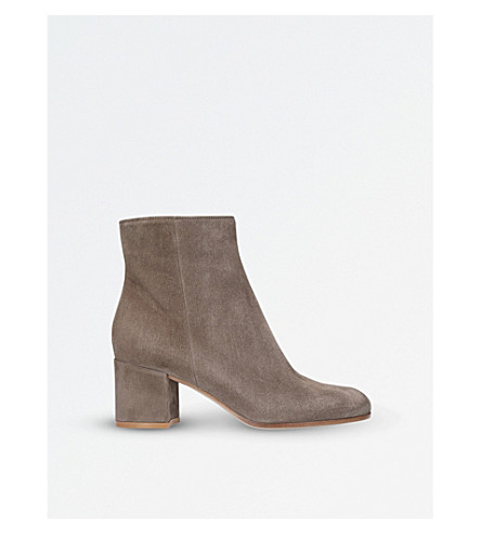 GIANVITO ROSSI Margaux suede ankle boots (Brown