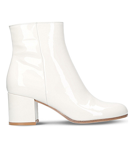GIANVITO ROSSI Margaux patent-leather ankle boots (Bone