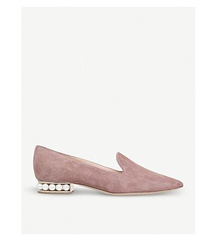 NICHOLAS KIRKWOOD Casati suede loafers (Pale+pink