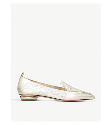 NICHOLAS KIRKWOOD Pointy metallic slippers (Gold