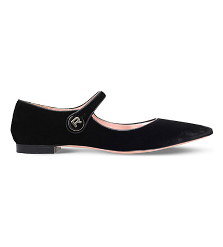 ROCHAS Velvet Mary Jane flats (Black