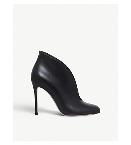 GIANVITO ROSSI Vamp leather booties (Black