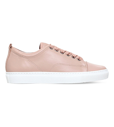 LANVIN Pattoe Soaa lace-up leather trainers (Nude