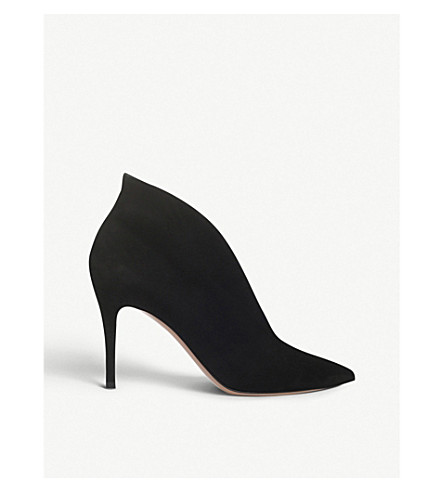 GIANVITO ROSSI Vania suede heeled ankle boots (Black