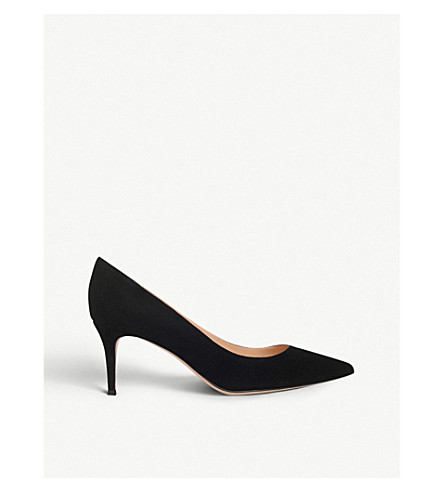 GIANVITO ROSSI Gianvito 70 suede courts (Black