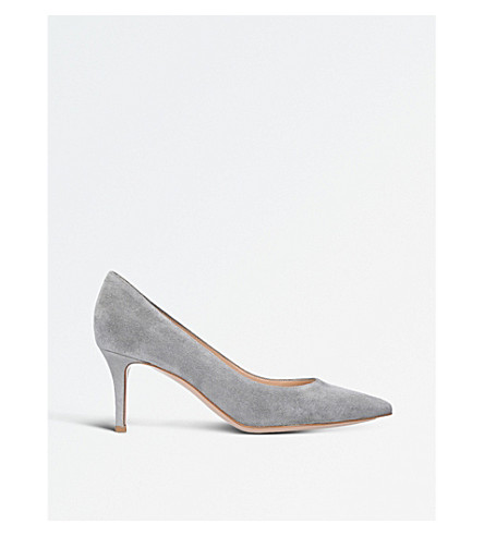 GIANVITO ROSSI Gianvito 70 suede courts (Grey