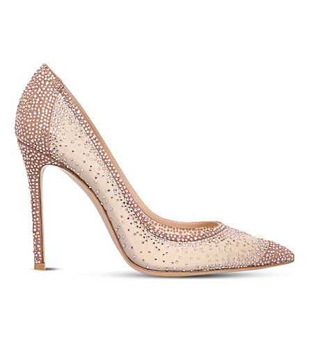 GIANVITO ROSSI Rania diamante court shoes (Nude