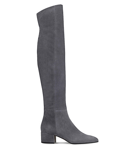GIANVITO ROSSI Rolling suede over-the-knee boots (Grey
