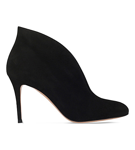 GIANVITO ROSSI Vamp 85 suede heeled ankle boots (Black