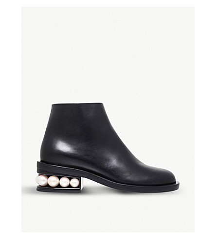 NICHOLAS KIRKWOOD Casati leather ankle boots (Black