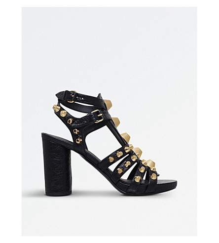 BALENCIAGA Arena Giant studded leather sandals (Black