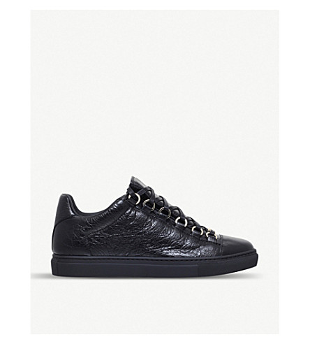 BALENCIAGA Arena leather trainers (Black