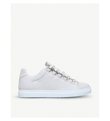 BALENCIAGA Arena leather trainers (White