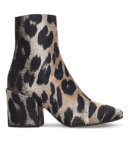 DRIES VAN NOTEN - Margo 70 leopard-print ankle boots | Selfridges.com