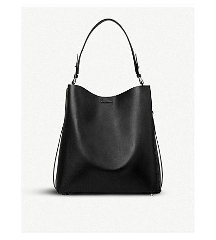ALLSAINTS Paradise North South leather tote bag (Black